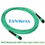 MPO MM OM3 fiber optic patch cord